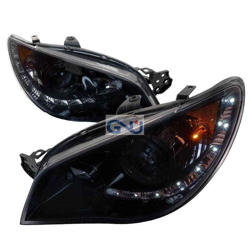 Subaru Impreza  2006-2007 Smoke  Projector Headlights