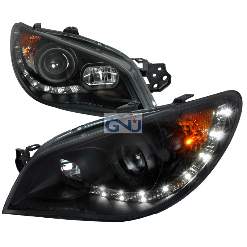 Subaru Impreza 2006 2007 Black Projector Headlights By