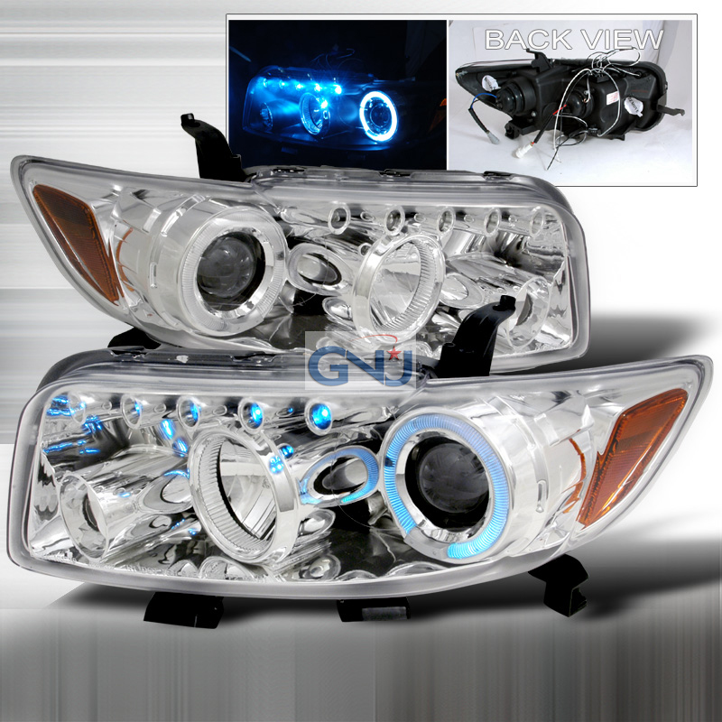 Scion XB  2008-2010 Chrome R8 Style Halo Projector Headlights  W/LED'S