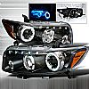 Scion XB  2008-2010 Black Halo Projector Headlights  W/LED'S