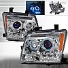 2010 Nissan Xterra   Chrome Halo Projector Headlights  W/LED'S