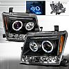 2005 Nissan Xterra   Black Halo Projector Headlights  W/LED'S