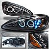 Pontiac Grand Am 1999-2005 Black JDM Projector Headlights w Halo