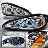 1999 Pontiac Grand Am  Chrome Projector Headlights w Halo