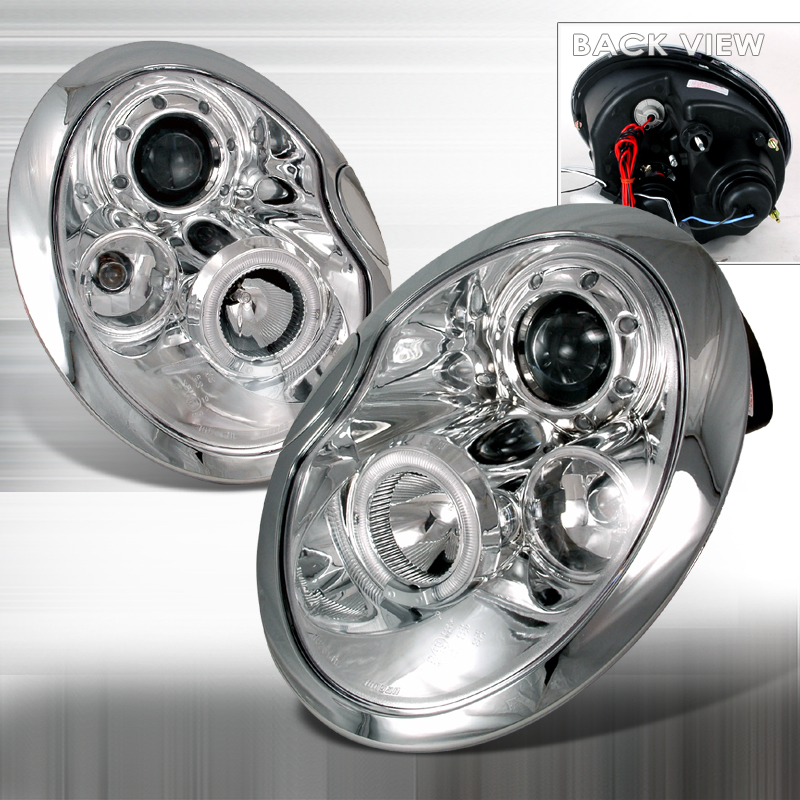 Mini Cooper 2002-2006 Chrome Halo Projector Headlights