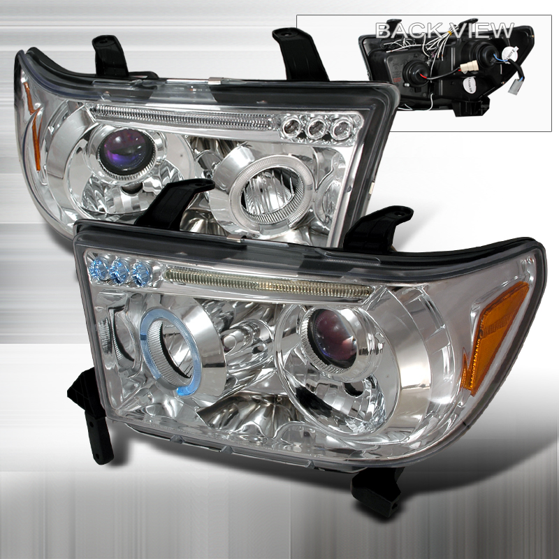 Toyota Tundra 2007-2008 Projector Headlights (Chrome)