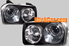 Chrysler 300 300C 2003-2008 Black Projector Headlights