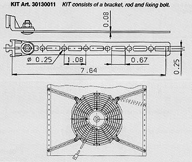 Fan Mounting Bracket Kit (Single Bracket)