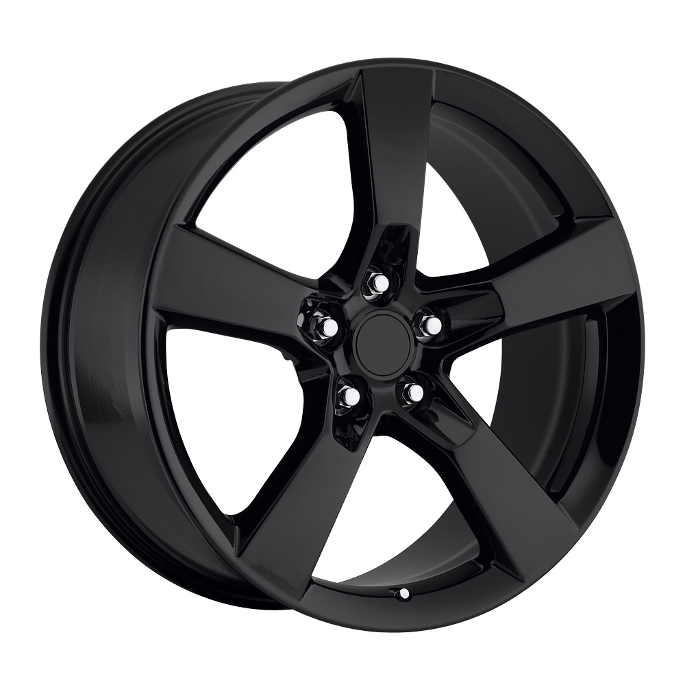 Chevrolet Camaro 2010-2012 22x10 5x4.75 +50 - Replica Wheel -  Gloss Black With Cap 