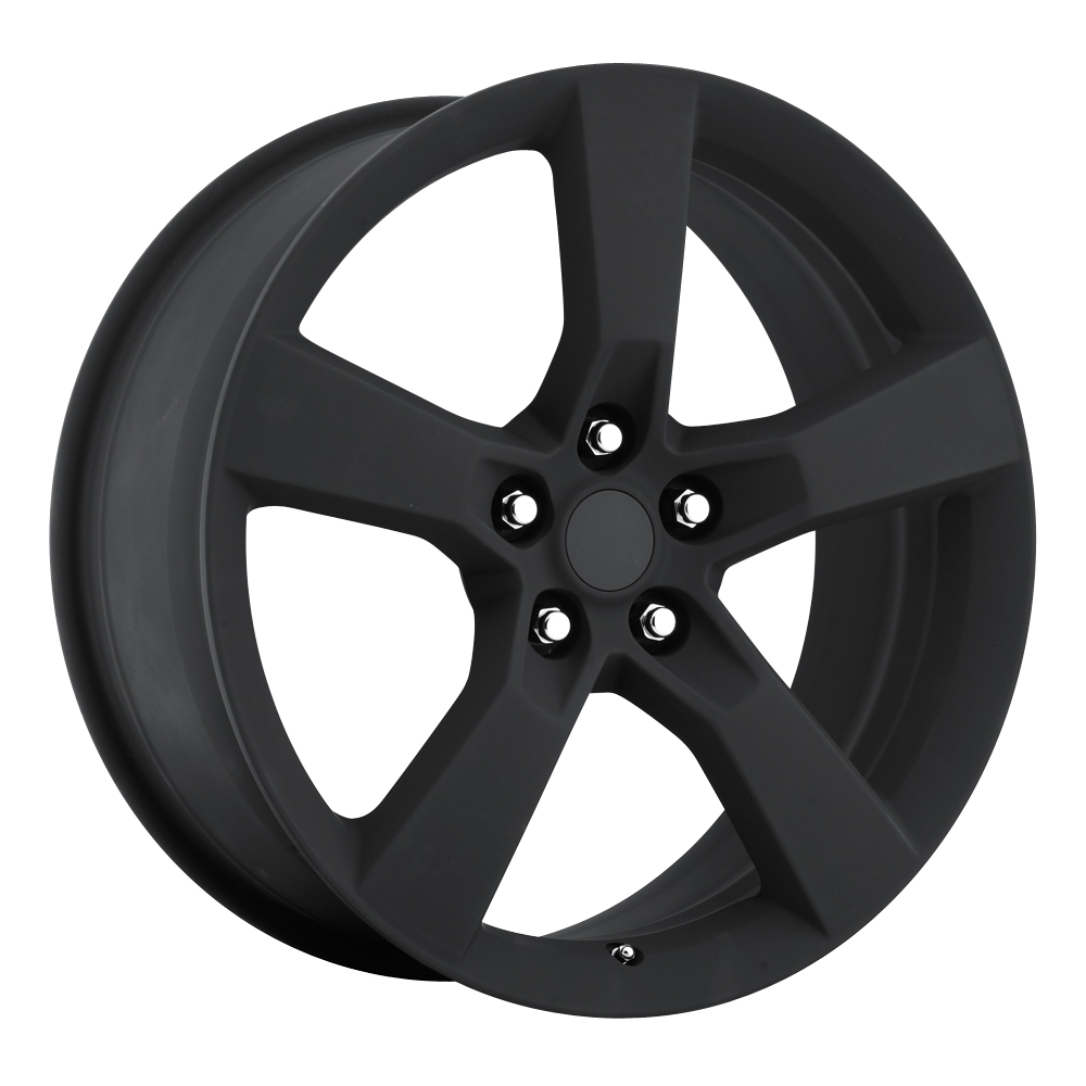 Chevrolet Camaro 2010-2012 22x9 5x4.75 +40 - Replica Wheel -  Satin Black With Cap
