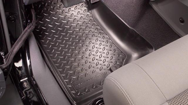 Mitsubishi Raider 2006-2008  Husky Classic Style Series Front Floor Liners - Black
