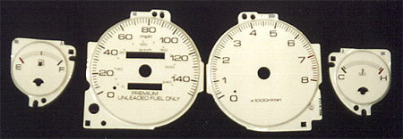 Acura Integra 94+ RS/LS/GS White Face Gauges