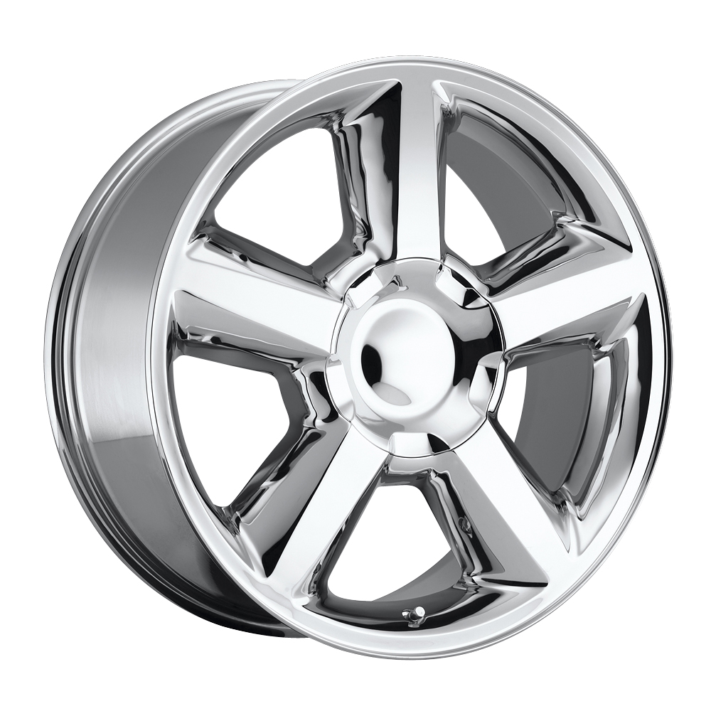 Chevrolet Tahoe 2007-2012 20x8.5 6x5.5 +30 - Replica Wheel -  Chrome With Cap