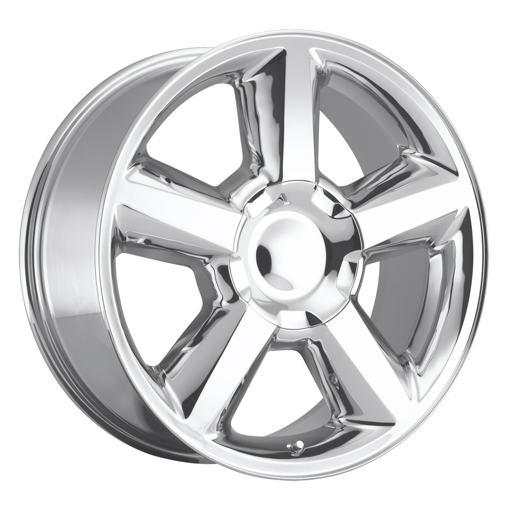 Chevrolet Tahoe 2007-2012 20x8.5 6x5.5 +30 - Replica Wheel -  Polished With Cap
