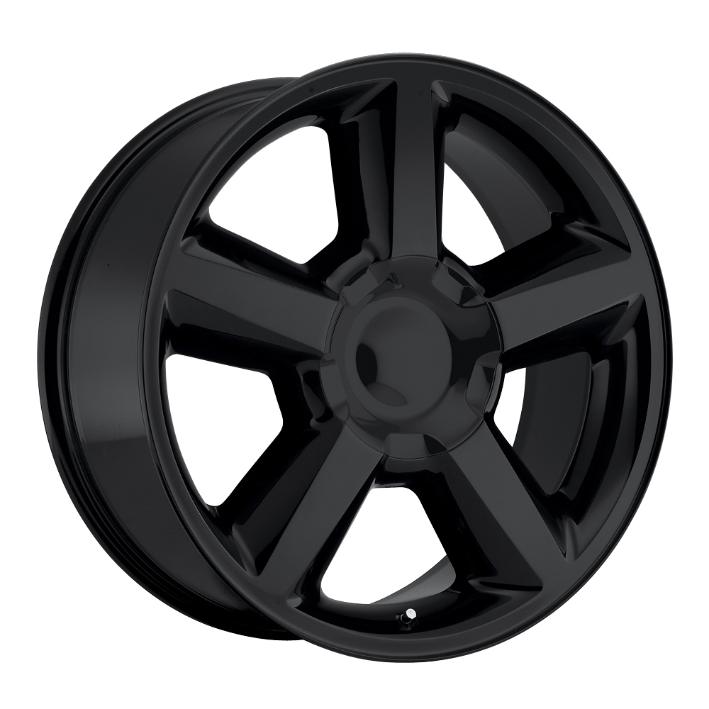 Chevrolet Suburban 2007-2012 20x8.5 6x5.5 +30 - Replica Wheel -  Gloss Black With Cap 