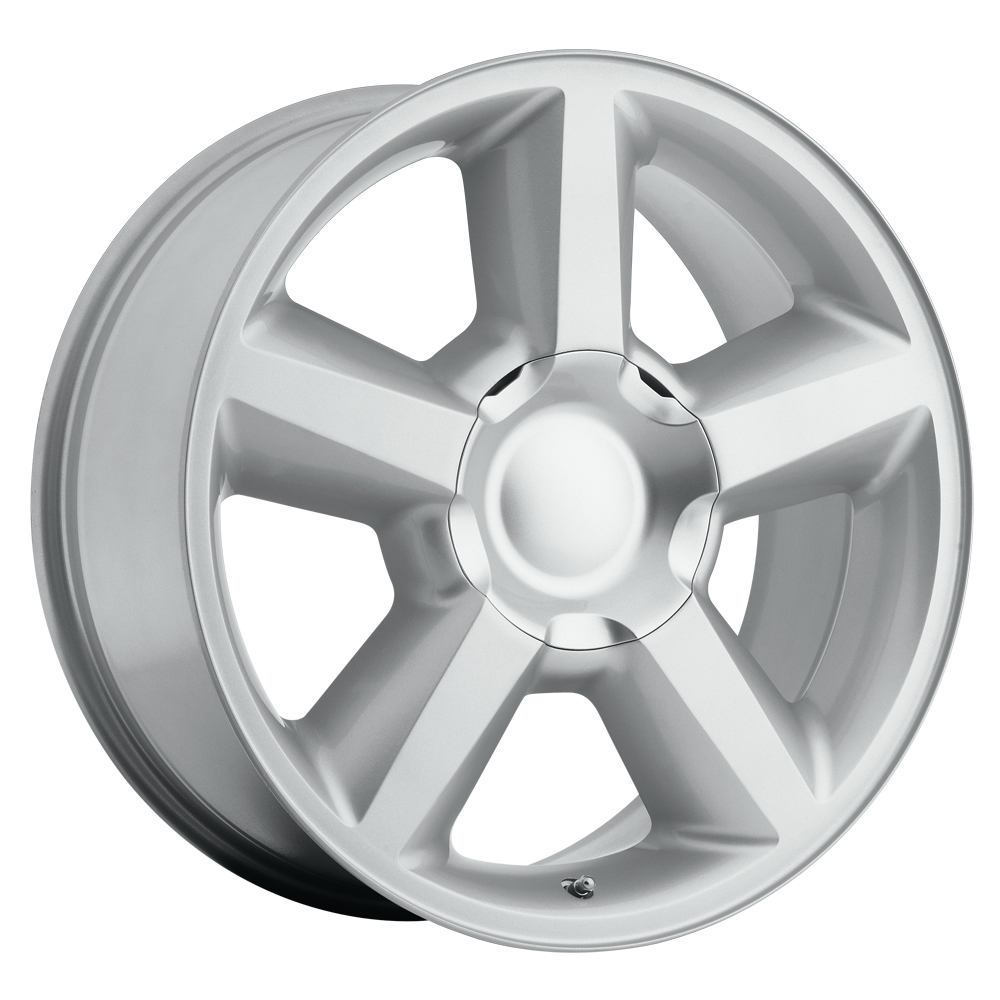 Chevrolet Tahoe 2007-2012 20x8.5 6x5.5 +30 - Replica Wheel -  Silver With Cap