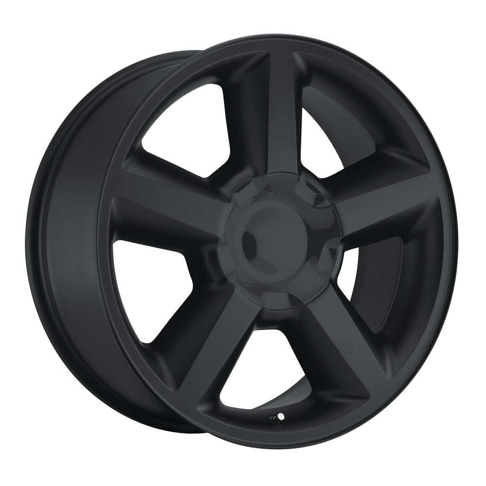 Chevrolet Tahoe 2007-2012 22x10 6x5.5 +31 - Replica Wheel -  Satin Black With Cap