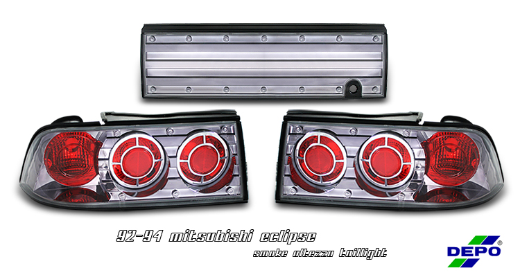Mitsubishi Eclipse 1992-1994  Chrome Euro Tail Lights