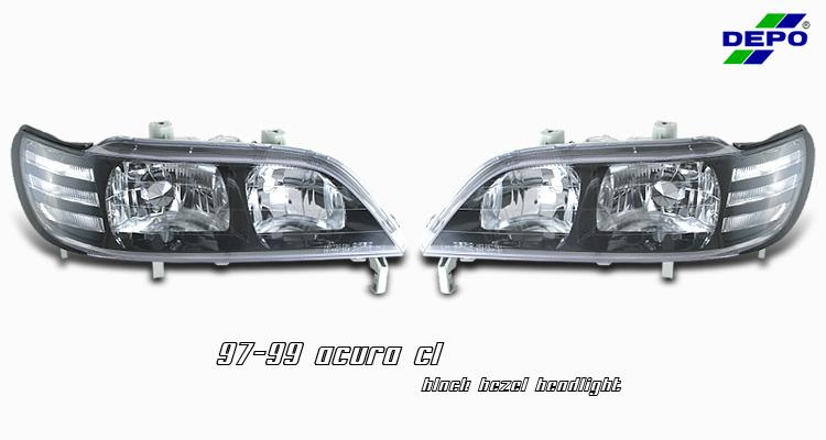 1997-1999 Acura CL Black Bezel Projector Headlights