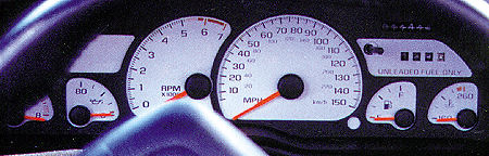 Chevy Camaro 93-96 Z-28 White Face Gauges