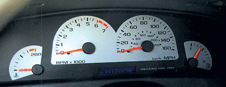 Chevy Impala 96 SS White Face Gauges
