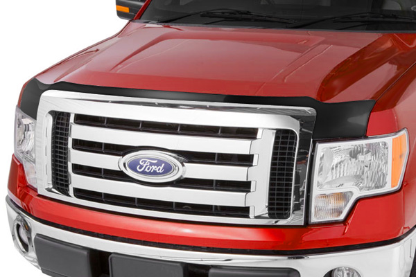 Chevrolet Silverado 2011-2012 Hd Large Acrylic Aeroskin Hood Shield (smoke)
