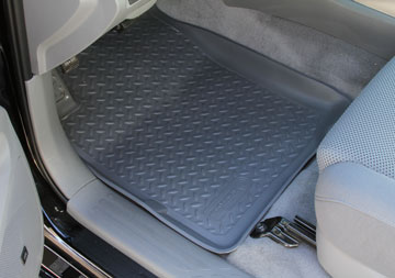 Ford Super Duty 1980-1997 F-350 Husky Classic Style Series Front Floor Liners - Gray