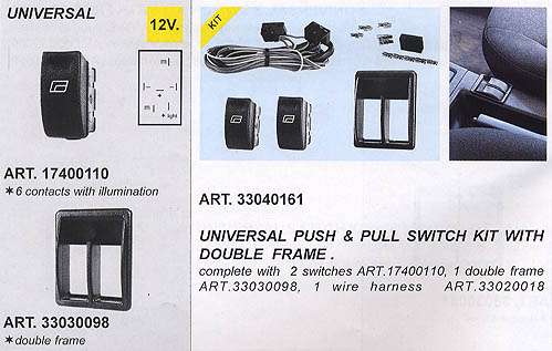 2 Switch Kit Illuminated (Push)/(Pull)