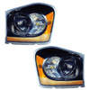 Dodge Durango 2005-2006 Black Projector Headlights