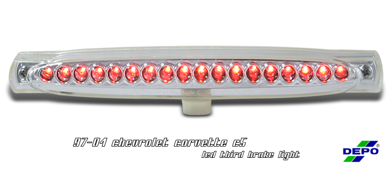 Chevrolet Corvette 1997-2004 C5 Chrome LED 3rd Brake Light