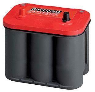 Optima Red Top Car Battery 12V, 800CCA Top Post