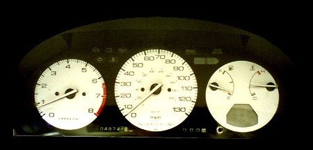 Honda Accord 90-93 NS 5-Speed White Face Gauges
