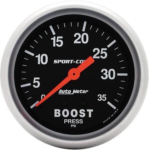 Auto Meter 35PSI 2-5/8 inch Boost Gauge