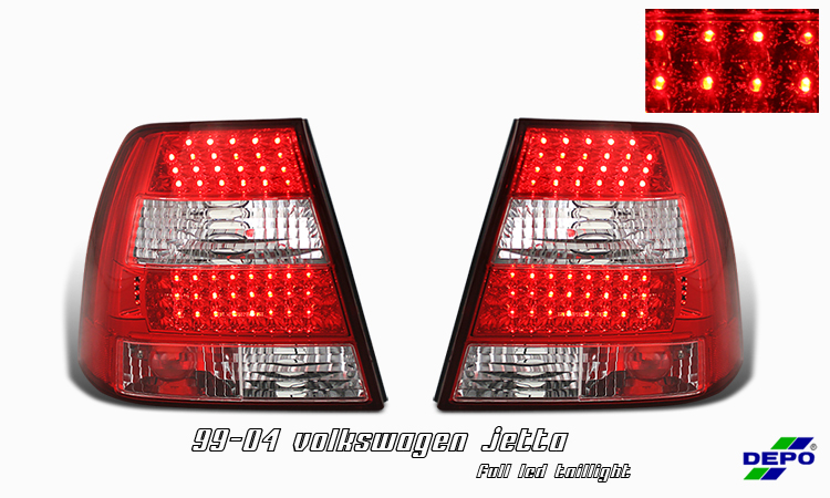 Volkswagen Jetta 1999-2004  Chrome Euro Tail Lights