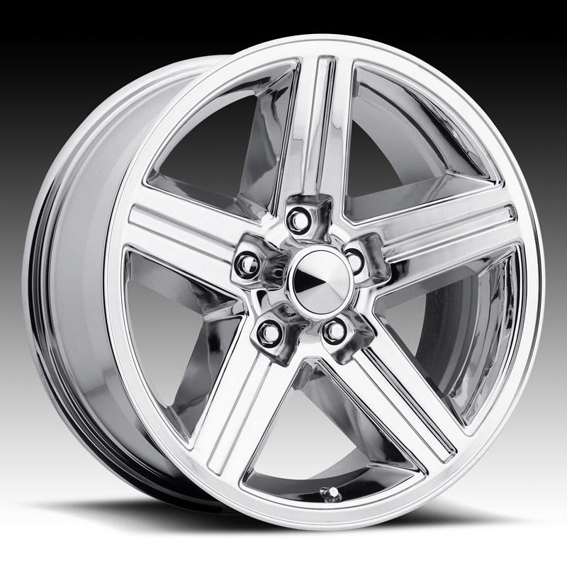Chevrolet Camaro 1982-1992 20x8 5x4.75 +0 - Iroc Style Wheel - Chrome With Cap