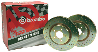 Hummer H2 03-06 Brembo Sport Drilled Rear Rotors (Pair)
