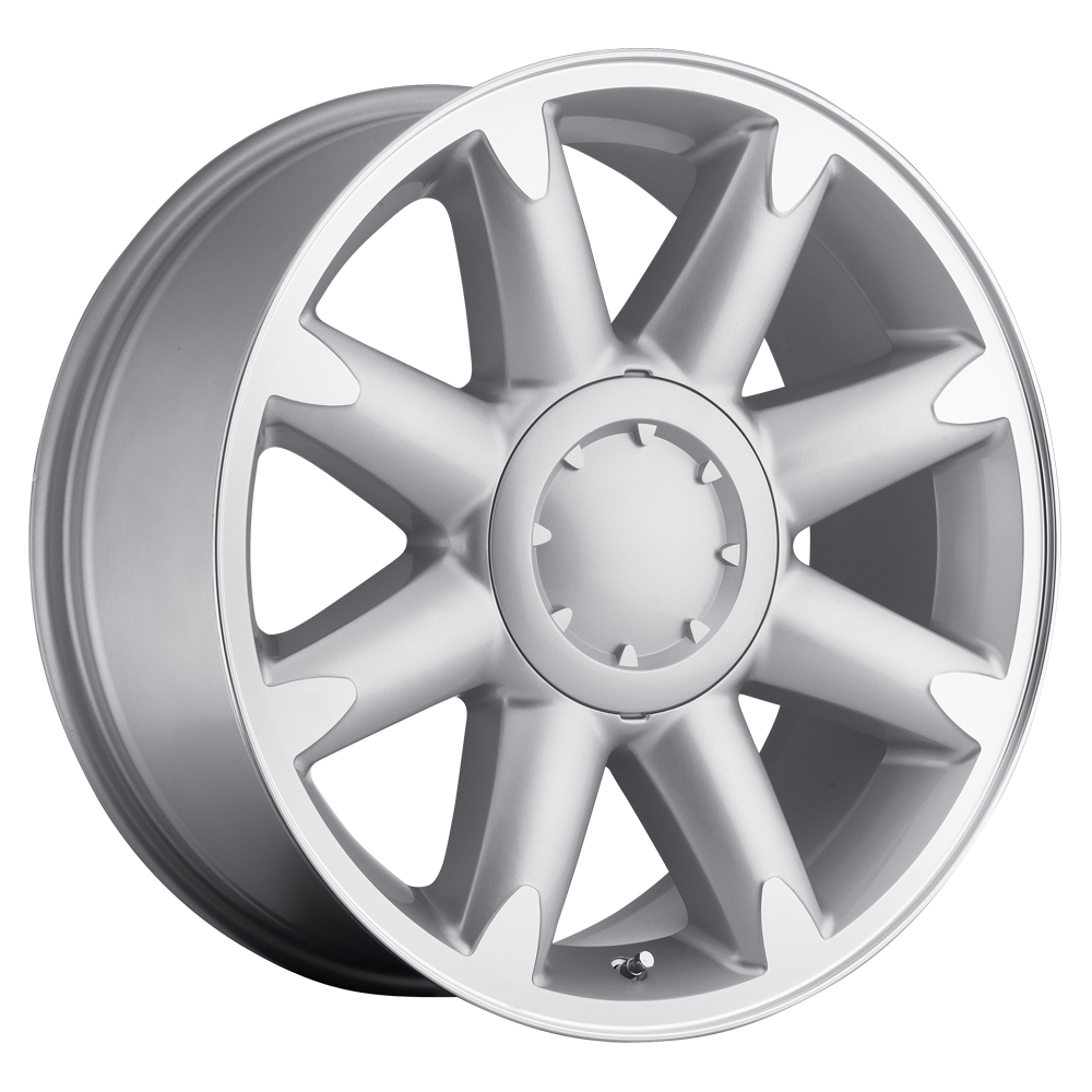 Gmc Yukon 2007-2012 20x8.5 6x5.5 +13 - Denali Wheel - Silver Machine Face With Cap
