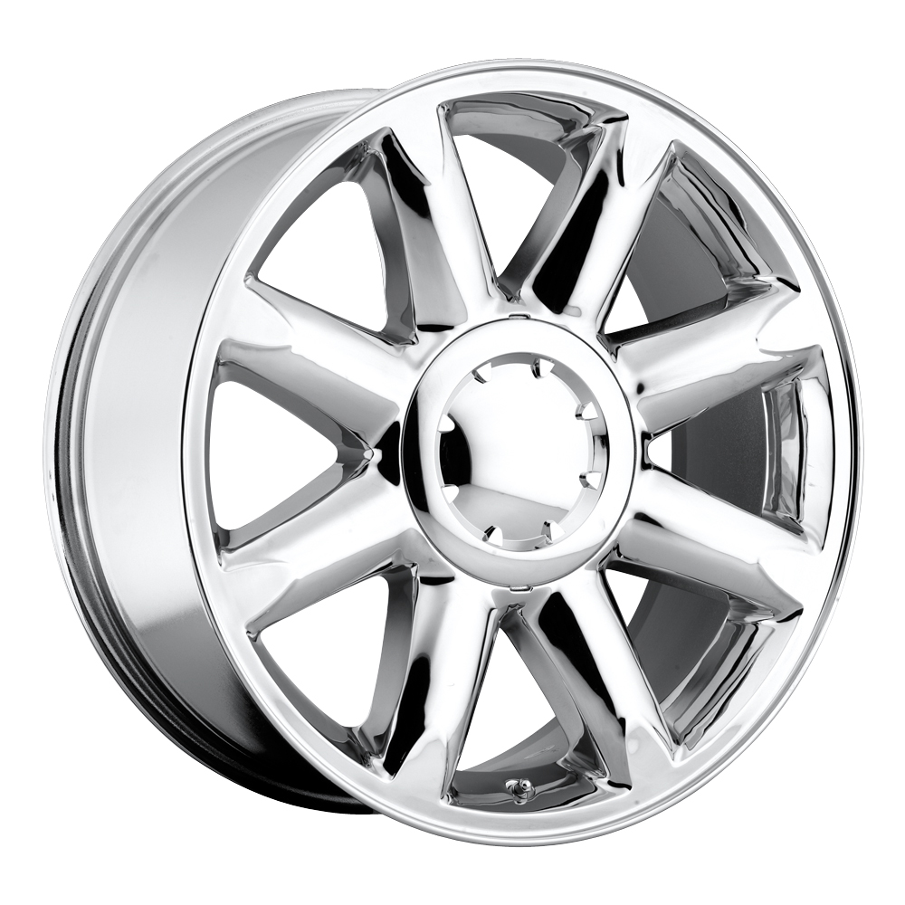Gmc Yukon 2007-2012 20x8.5 6x5.5 +13 - Denali Wheel - Chrome With Cap 