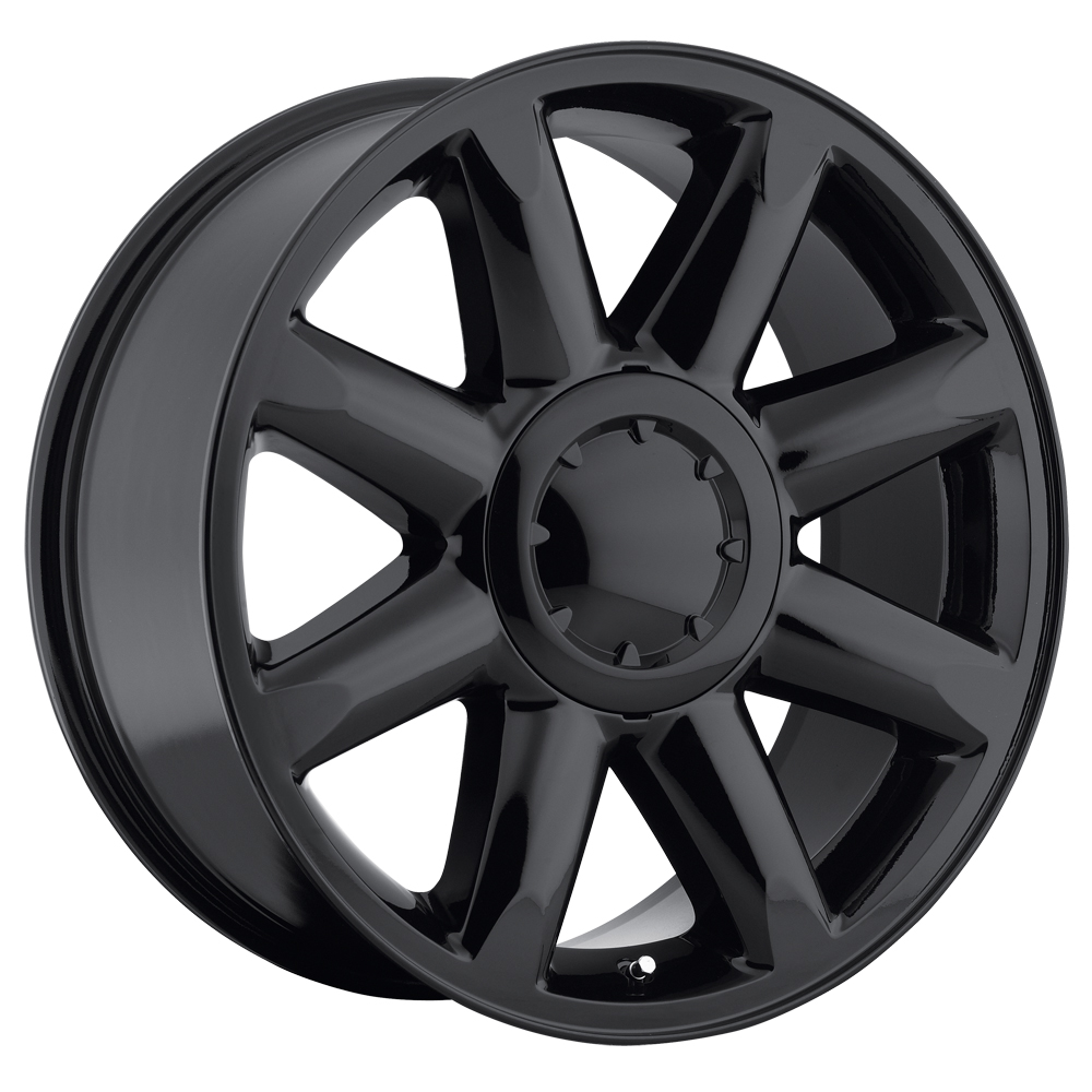 Gmc Yukon 2007-2012 20x8.5 6x5.5 +13 - Denali Wheel - Gloss Black With Cap