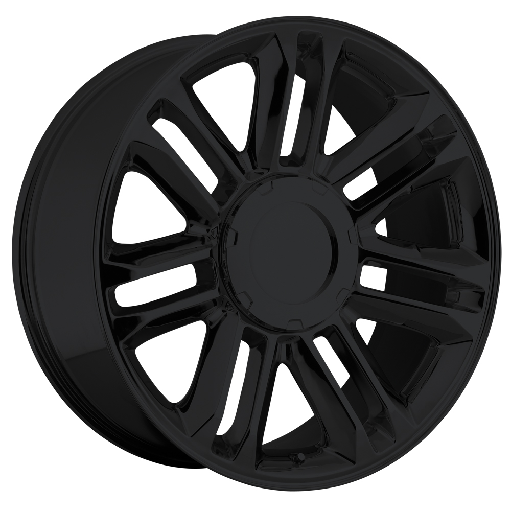 Cadillac Escalade 2007-2012 22x9 6x5.5 +31 - Platinum Wheel - Gloss Black With Cap 