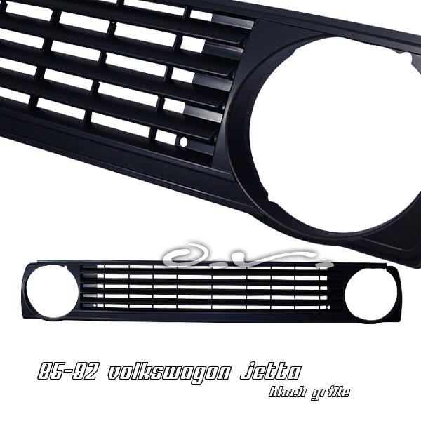 Volkswagen Jetta 1985-1992  Black Front Grill