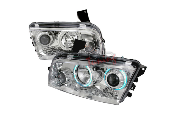 Dodge Charger  2005-2010 Chrome Ccfl Halo Projector Headlights