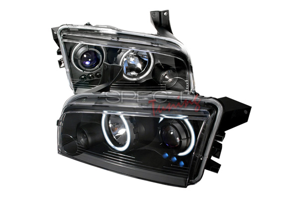 Dodge Charger  2005-2010 Black Ccfl Halo Projector Headlights