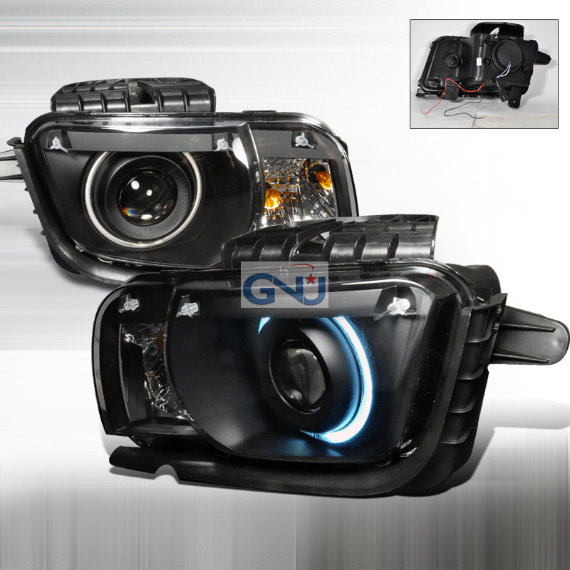 Chevrolet Camaro 2010-2011CCFL Halo  Projector Headlights - Black