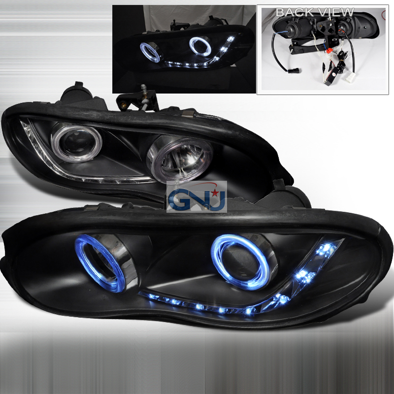 Chevrolet Camaro  1998-2002 Black Dual Ccfl Halo Projector Headlights
