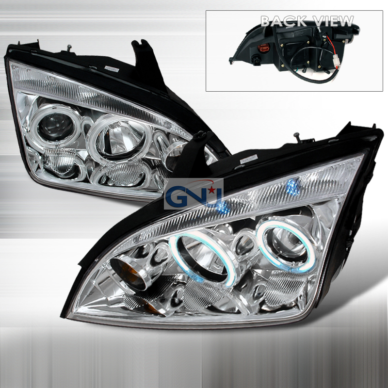 Ford Focus  2005-2007 Chrome Ccfl Halo Projector Headlights