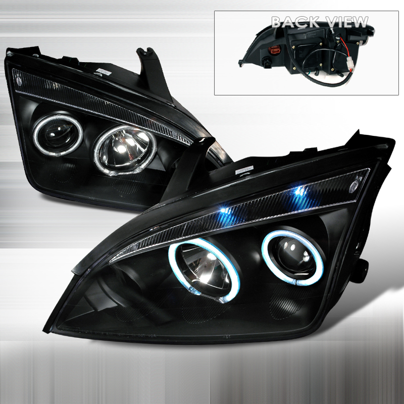 Ford Focus  2005-2007 Black Ccfl Halo Projector Headlights