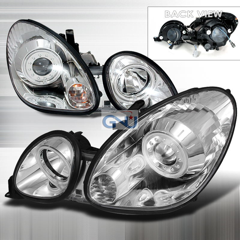 Lexus GS300  1998-2005 Chrome Ccfl Halo Projector Headlights