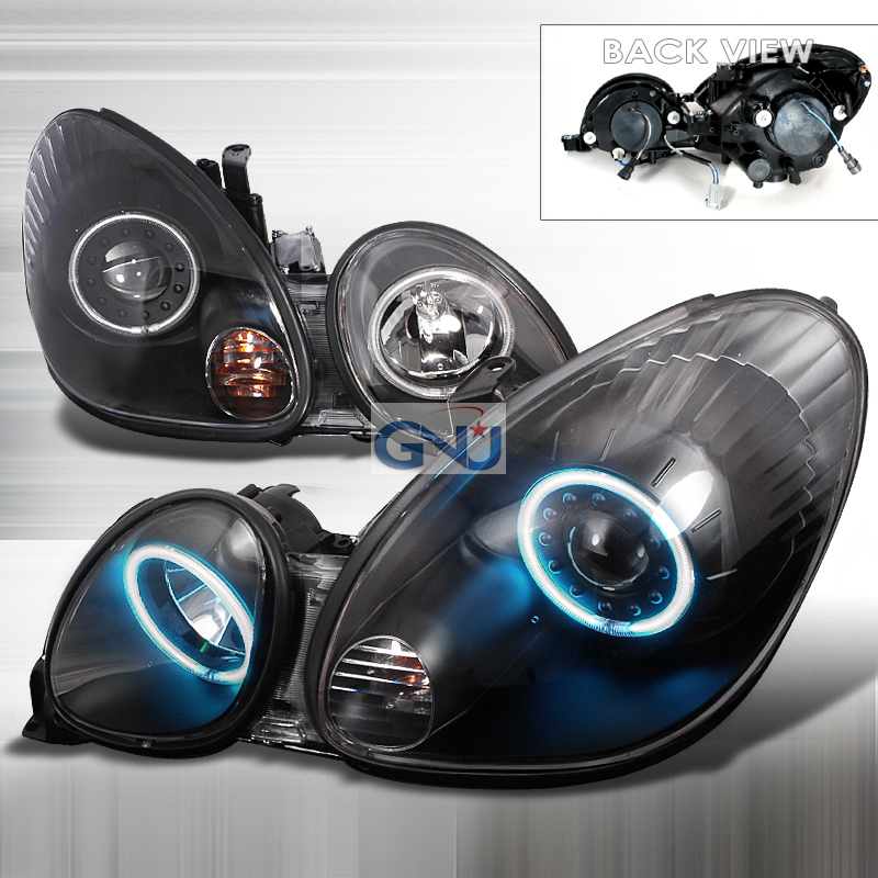Lexus GS300  1998-2005 Black Ccfl Halo Projector Headlights