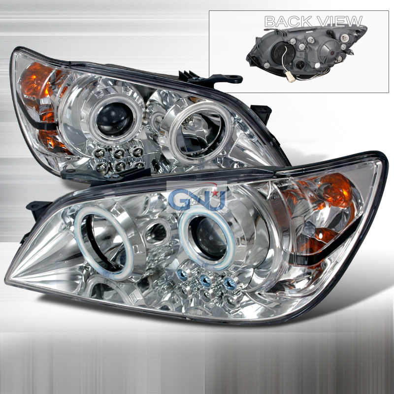 Lexus IS300  2001-2005 Chrome Ccfl Halo Projector Headlights